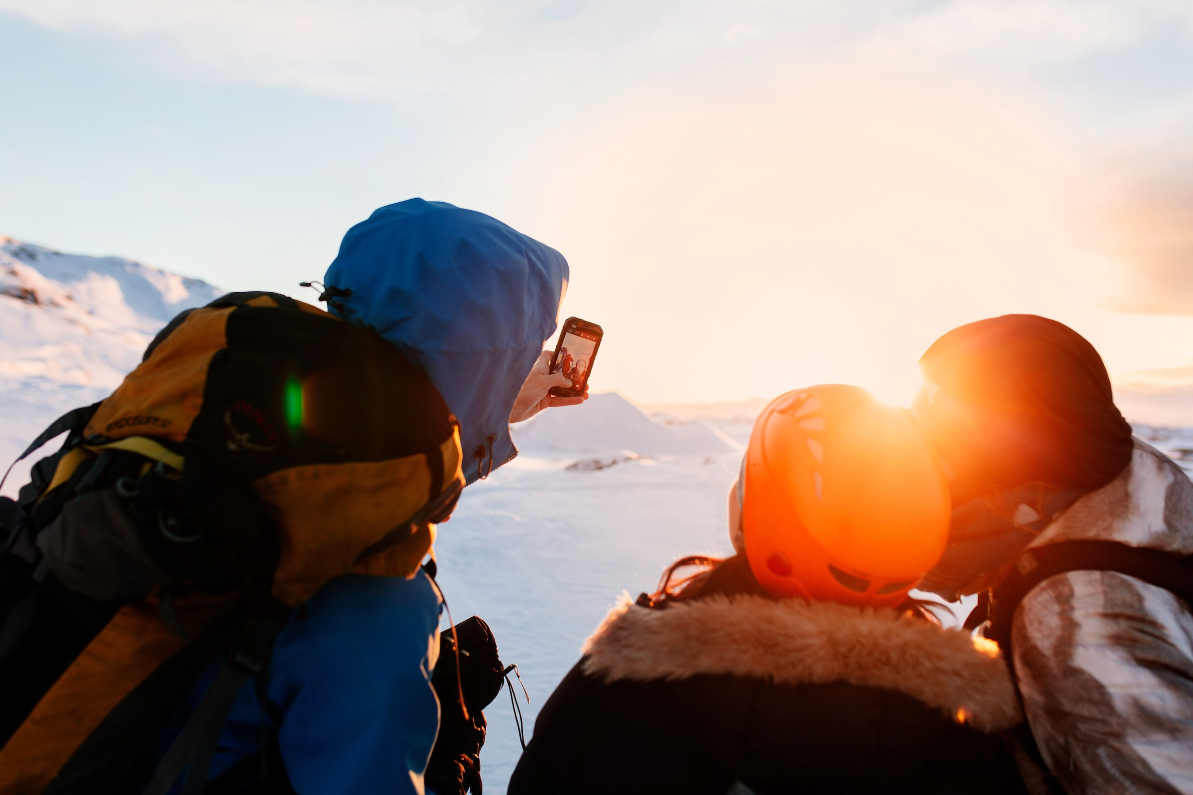 Sunset selfie on hike near Nuuk. Photo by Rebecca Gustafsson - Visit Greenland